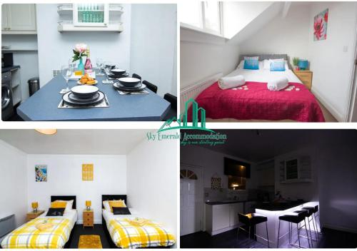 3 & 4 Bedroom House Available with Sky Emerald Serviced Accommodation Leeds, Upto 14 Guest, With Free Car Park and Free Wifi , Offer for Long Term Boo