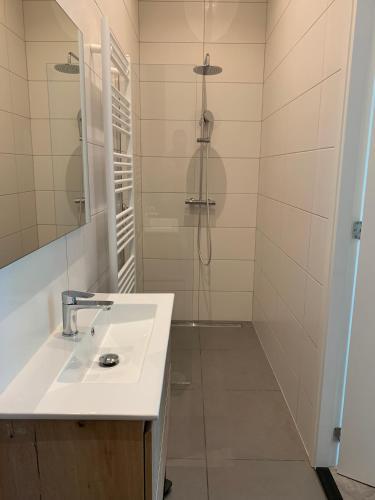 A bathroom at Utrecht City Apartments - Maliesingel