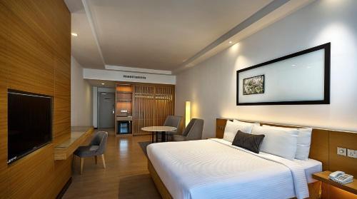 吉隆坡安莎酒店房間的床
