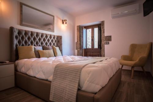 Uma cama ou camas num quarto em Casa de São Miguel