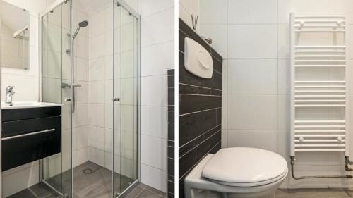 Een badkamer bij Wijngaardstraat 12