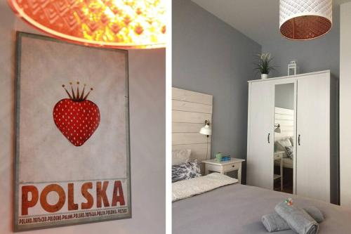 A bed or beds in a room at Home Office Kopernika 8'3 - Market Square & Old Town