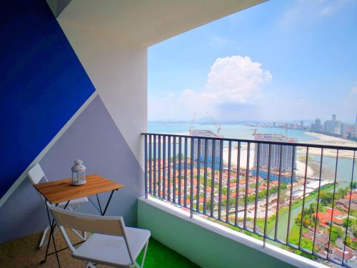 A balcony or terrace at The Landmark Seaview Gurney