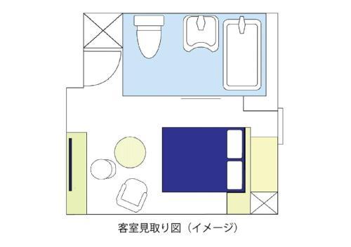The floor plan of Meitetsu Inn Hamamatsucho