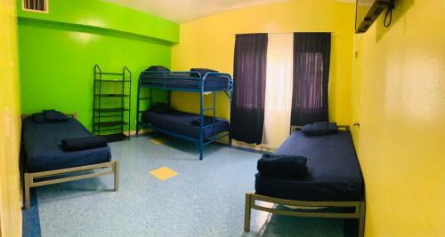 A bunk bed or bunk beds in a room at Banana Bungalow West Hollywood Hotel & Hostel