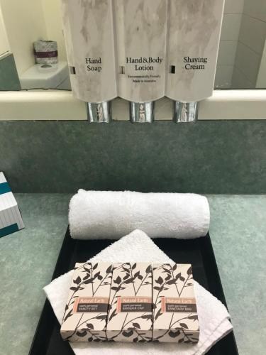 A bathroom at Emerald Central Hotel