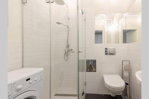 Koupelna v ubytování Apartamenty-MI Crystal