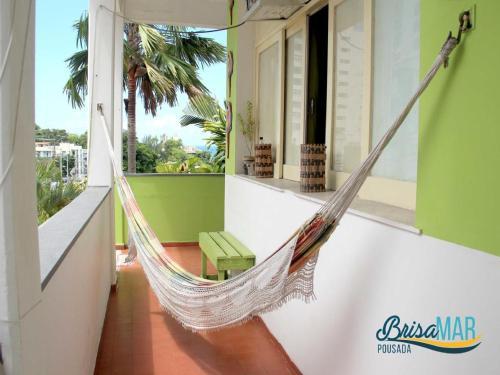 A balcony or terrace at Hotel Pousada Brisa Mar