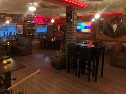 The lounge or bar area at El Toro