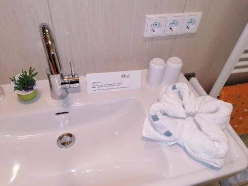 Ein Badezimmer in der Unterkunft Gartenappartement Ybbs