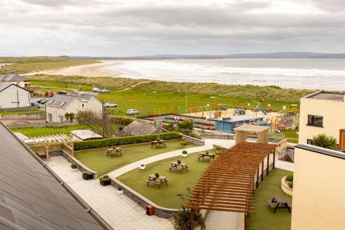 A bird's-eye view of Ocean Sands Hotel