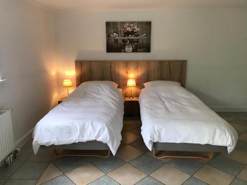 Ein Bett oder Betten in einem Zimmer der Unterkunft Schirnaublick