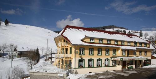 Grüner Baum Naturparkhotel & Schwarzwald-Restaurant during the winter