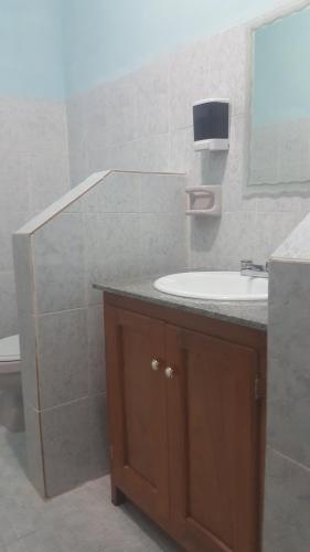 A bathroom at Hotel Nueva Alianza