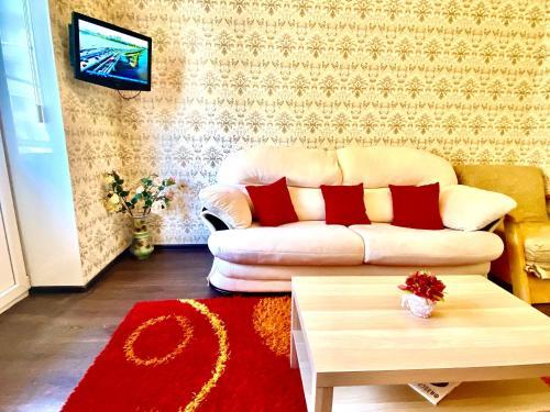 A seating area at 2-х комнатная квартира на Набережной