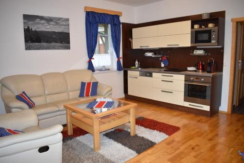 Kuchyň nebo kuchyňský kout v ubytování Apartman Razula