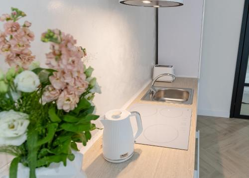 A kitchen or kitchenette at BIANCO APARTMENTS