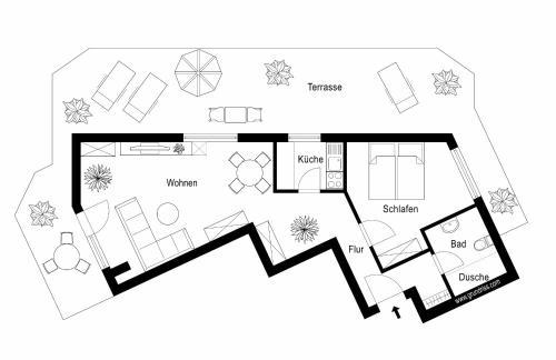 The floor plan of Residenz am Kurpark