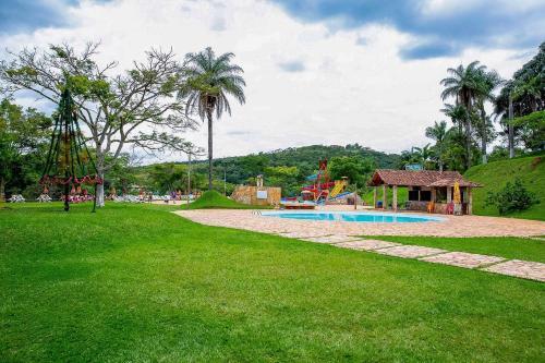 A garden outside Hotel Rio de Pedras