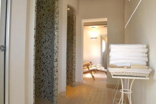 Letto o letti in una camera di Borgo Fontale