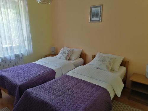 Postel nebo postele na pokoji v ubytování House Jezerka