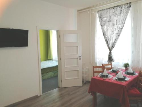 A television and/or entertainment center at Apartmány Agáta Abertamy