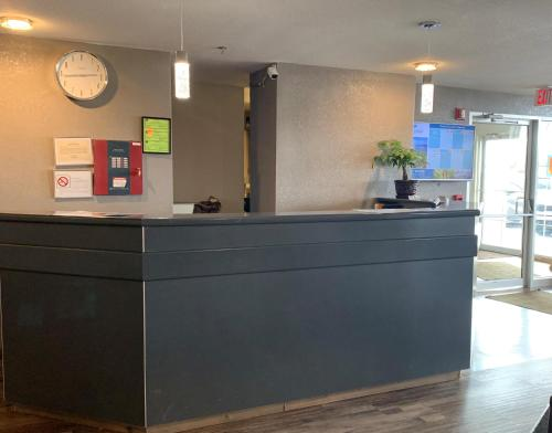 The lobby or reception area at Microtel Inn & Suites by Wyndham Fond Du Lac
