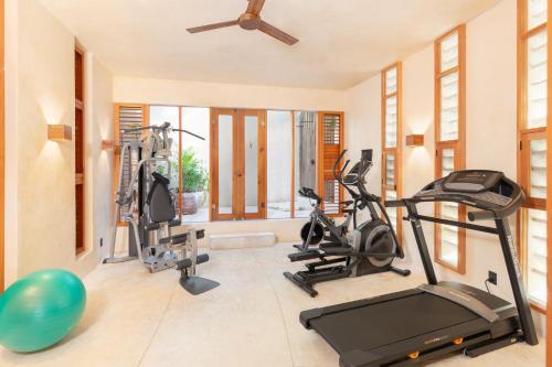 Gimnasio o instalaciones de fitness de Hotel Ma'xanab Tulum