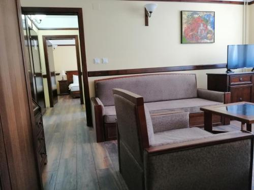 A seating area at Hotel St. Naum