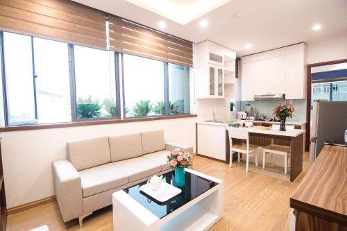 A kitchen or kitchenette at Canary Ha Noi Hotel