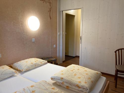 Ein Bett oder Betten in einem Zimmer der Unterkunft Hotel Ristorante Baldi