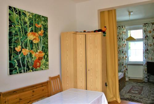Ein Bett oder Betten in einem Zimmer der Unterkunft Kleiner Herrenhof