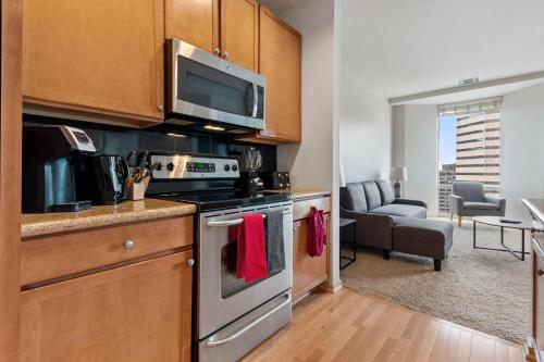 A kitchen or kitchenette at Luxury Denver 30 Day Rentals