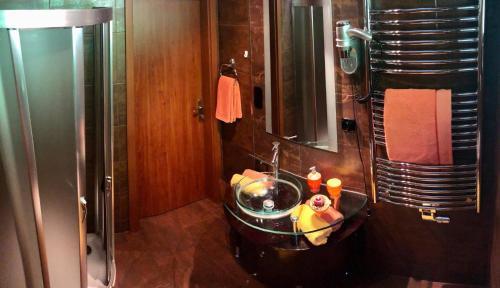 A bathroom at Apartmány Kolonáda