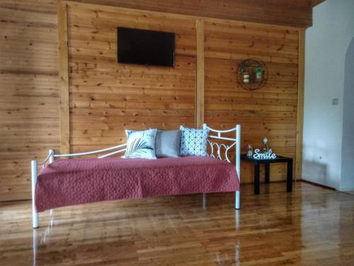A seating area at Grivas House