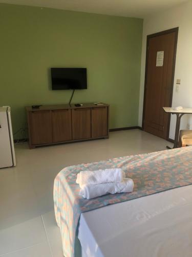Кровать или кровати в номере Valparaiso Hotel