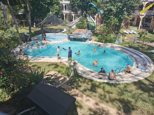 A view of the pool at Kokosnuss Garden Resort or nearby