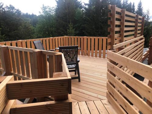 Ein Balkon oder eine Terrasse in der Unterkunft Hotel Carlsruh