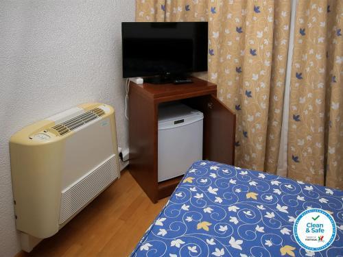 Télévision ou salle de divertissement dans l'établissement Albergaria Quim Barreiros
