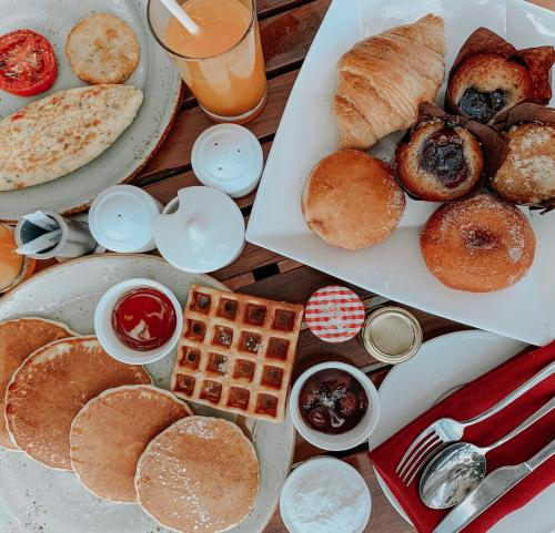 Breakfast options available to guests at Hyatt Centric MG Road Bangalore