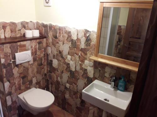 Koupelna v ubytování Penzion Zámecká