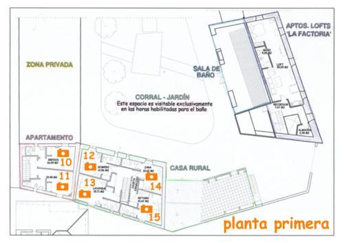 The floor plan of Casa Rural del Corral