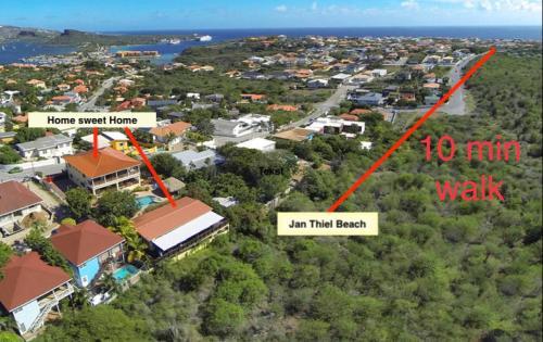 Uma vista aérea de Home Sweet Home Jan Thiel Curacao best view