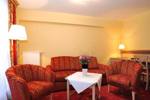 Posezení v ubytování Romantik Hotel Böld