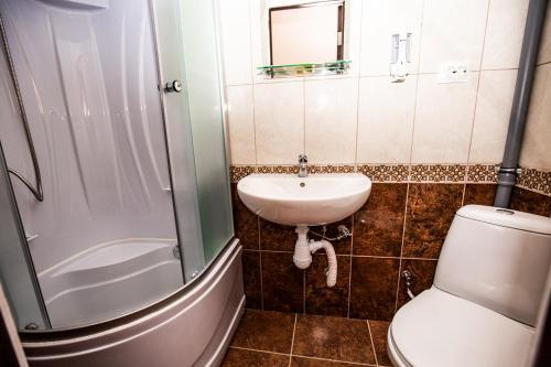 Ванная комната в VIP Hostel на Волге