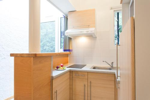 A kitchen or kitchenette at Résidence Le Mas Blanc by Popinns