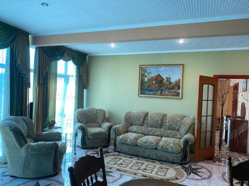 Гостиная зона в Мини отель Зорэмма