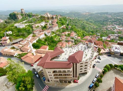 A bird's-eye view of Hotel Panorama Kruje