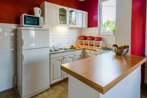 A kitchen or kitchenette at Apartment Dunja