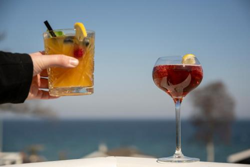 Drinks på Hotel Friheden